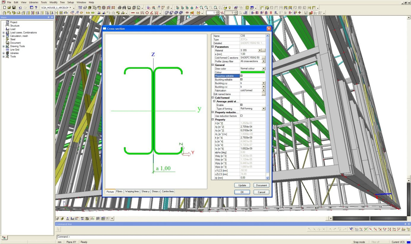 Scia Engineer Proves to be Ready to Support Cold Formed Steel in BIM