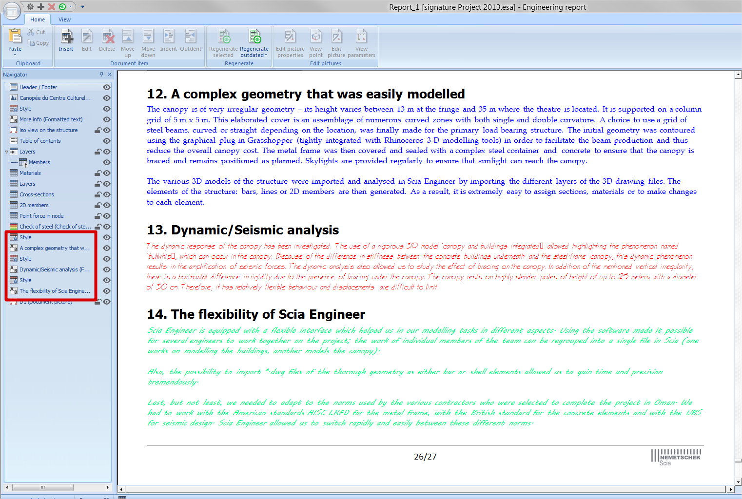 faq engineering report how can i change the formatting of my report