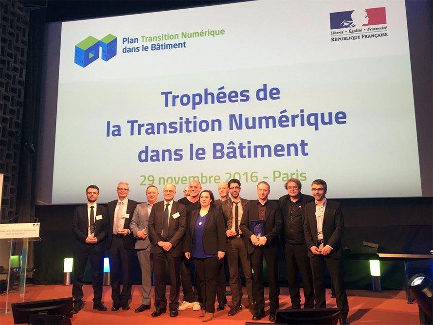 SCIA Engineer Lauréat aux Trophées de la Transition Numérique dans le Bâtiment 2016