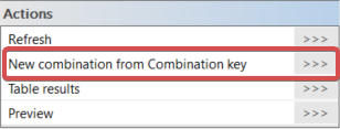 SCIA Engineer: New combination from combination key