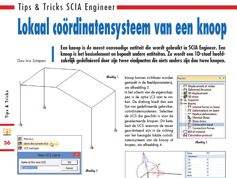 Tips & Tricks SCIA Engineer in CAD Magazine 3 2016