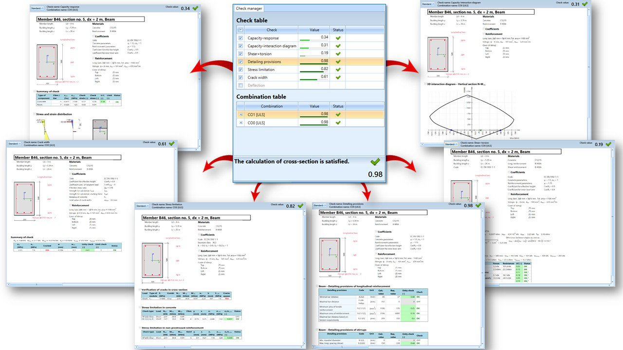 Scia Engineer 16 User Satisfaction Program Addressing Shear Force And Bending Moment Diagrams Detailed Reinforced Concrete Section Check