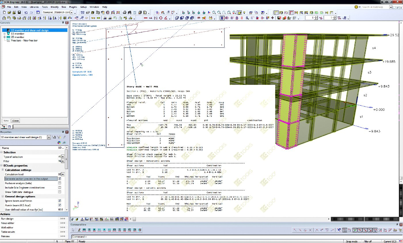 Scia Engineer 16 User Satisfaction Program Addressing Shear Force And Bending Moment Diagrams Wall Ecctools