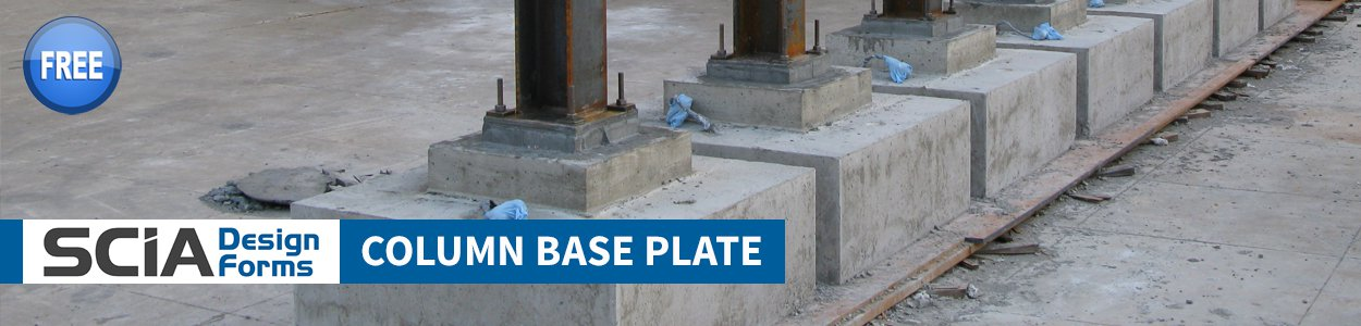 Column Base Plate & Anchor Bolt Scia Design Form