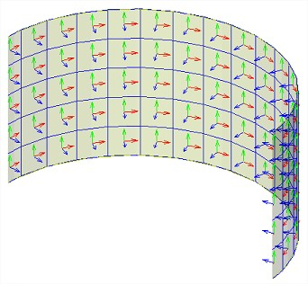 Figure 9: LCS of the finite element mesh.