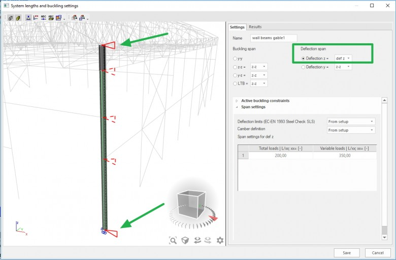 SCIA Engineer - How to setup steel SLS check?