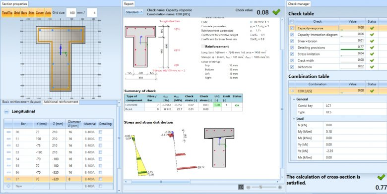 SCIA Engineer 16's Concrete Section Check tool