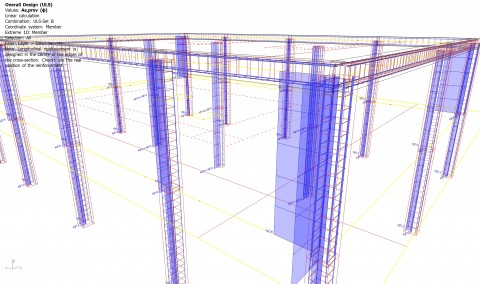 Automatic design of reinforcement bars in 1D members