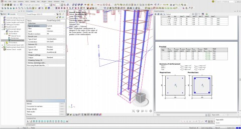 Practical design of reinforcement in columns, beams and ribs