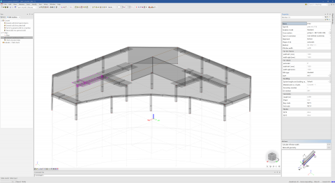 Automatic calculation of effective widths for concrete ribs