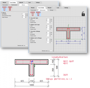 SCIA Concrete Section Reinforcement Templates
