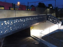 Martinet footbridge - first use of UHPFRC in Switzerland