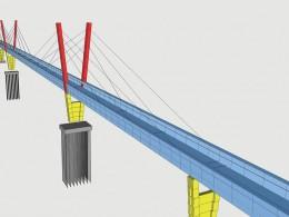 Pedestrian Bridge over the Railway Yard