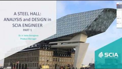[EN] Analysis and design of a steel hall with SCIA Engineer