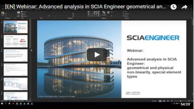 [EN] Webinar: Advanced analysis in SCIA Engineer  geometrical and physical non linearity, special