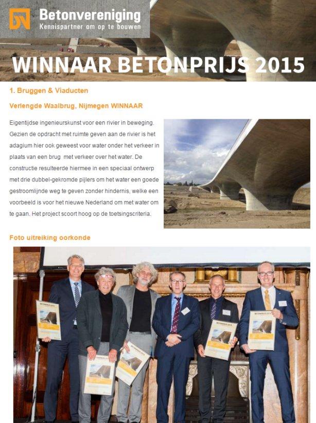 Project ook WINNAAR van de Betonprijs 2015!