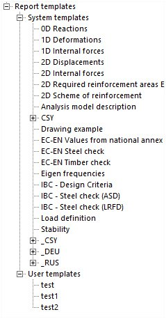 Scia Engineer: Engineering Report Templates